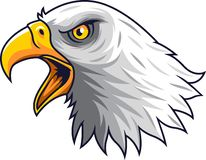 Kreskówki Eagle głowy maskotka ilustracji