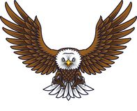 Kreskówki Eagle maskotka royalty ilustracja