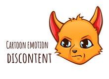 Kreskówki emocja lis - malkontenctwo royalty ilustracja