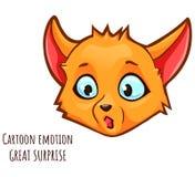 Kreskówki emocja lis - wielka niespodzianka royalty ilustracja