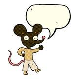 kreskówki falowania mysz z mowa bąblem Zdjęcia Stock