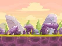 Kreskówki fantazi bezszwowy krajobraz ilustracji