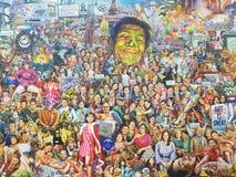 Kreskówki farba w muzeum obraz royalty free