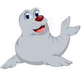 Kreskówki foki uśmiech dla ciebie projektuje Zdjęcia Royalty Free
