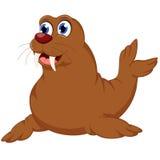 Kreskówki foki uśmiech dla uoy projekta Obraz Stock