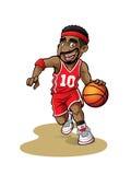 kreskówki głowy koszykówki maskotki gracza kciuki w górę royalty ilustracja