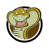 kreskówki gniewna kobra Obrazy Royalty Free