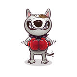 Kreskówki gniewny BullTerrier Zdjęcia Royalty Free