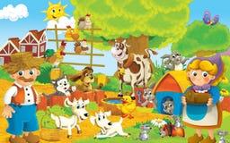 Kreskówki gospodarstwo rolne - ilustracja dla dzieci ilustracja wektor