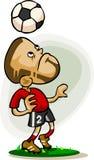 kreskówki gracza piłka nożna Fotografia Stock