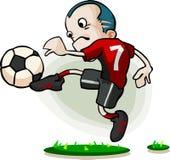 kreskówki gracza piłka nożna Zdjęcia Stock
