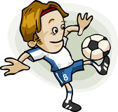 kreskówki gracza piłka nożna Obrazy Stock