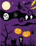 kreskówki Halloween. Ilustracja Wektor
