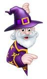 Kreskówki Halloween czarownik royalty ilustracja