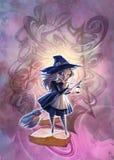 Kreskówki Halloween ilustracja mistyczny surrealistyczny enigmatyczny krajobraz ilustracja wektor