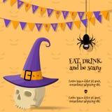 kreskówki Halloween karta ilustracja wektor