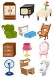 kreskówki ikona meblarska domowa ilustracji