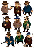 kreskówki ikony mafia Zdjęcia Royalty Free
