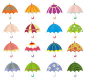 kreskówki ikony parasol Obraz Royalty Free