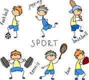 kreskówki ikony sporta wektor ilustracja wektor
