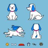 Kreskówki ilustraci psa Wektorowe pozy Obraz Royalty Free