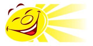 kreskówki ilustraci słońce Obrazy Stock