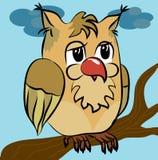 kreskówki ilustracja odizolowywający sowy wektor Obraz Royalty Free