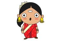 Kreskówki ilustracja Południowa Indiańska kobieta royalty ilustracja