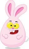 Wielkanocnego jajka kształtny Wielkanocny królik Obraz Stock