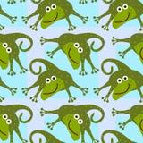 Kreskówki jaszczurki tła bezszwowy projekt Fotografia Royalty Free