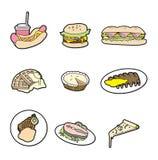 kreskówki jedzenia ikona Zdjęcia Stock