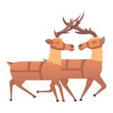 Kreskówki jeleni wektorowy zwierzę ilustracja wektor