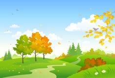 Kreskówki jesieni las Fotografia Stock