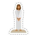 kreskówki jezus chrystus skazująca śmierć przez crucis - ilustracji