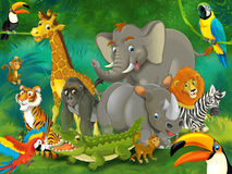 Kreskówki junge - ilustracja dla dzieci Obrazy Royalty Free