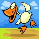 Kreskówki kaczątko kaczka lub Zdjęcia Stock