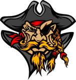 kreskówki kapeluszowy wizerunku maskotki pirat Obraz Royalty Free