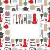 kreskówki karciana kuchnia ilustracja wektor