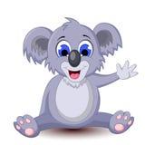 Kreskówki koali obsiadanie z falowanie ręką Obrazy Royalty Free