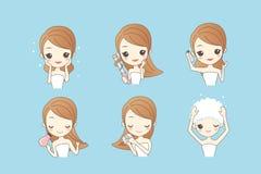 Kreskówki kobieta robi salonowi royalty ilustracja