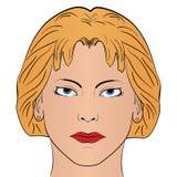 Kreskówki kobiety strony wzór Zdjęcie Stock