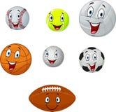 Kreskówki kolekci piłka Zdjęcie Royalty Free