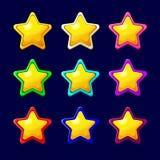 Kreskówki kolorowa glansowana gwiazda Zdjęcie Royalty Free