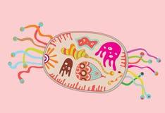 Kreskówki komórka Obrazy Royalty Free