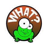 Kreskówki komiczki żaba Zdjęcia Stock