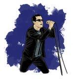 kreskówki komiczny piosenkarza styl Fotografia Stock