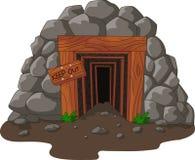 Kreskówki kopalniany wejście royalty ilustracja