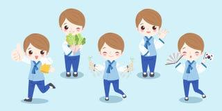 Kreskówki Korea chłopiec ilustracja wektor