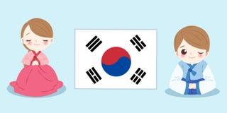 Kreskówki Korea ludzie ilustracji