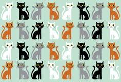 kreskówki kotów wzór bezszwowy Obrazy Royalty Free